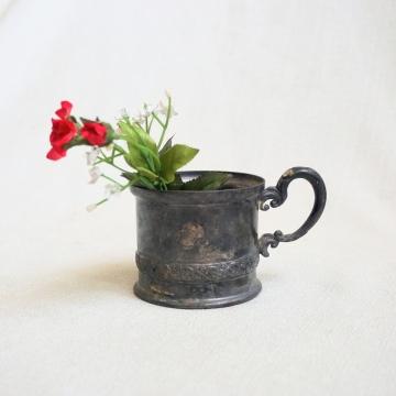 Vintage Silverplate Handle Mug Apollo Silver Co Ornate Cup