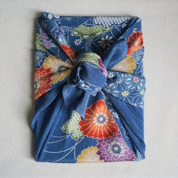 Vintage Japanese Furoshiki Wrapping Cloth Scarf Accessory Decor