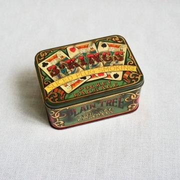 Vintage Daher Tin 3 Kings Sliced Plug Smoking Tobacco Made in England
