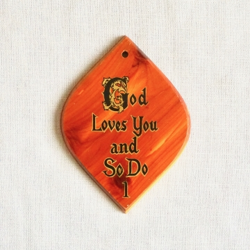 Vintage Wood Wall Plaque God Loves You Home Decor